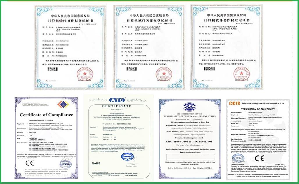Sản phẩm đã đạt các tiêu chuẩn thế giới như CE, RoHS, FCC…