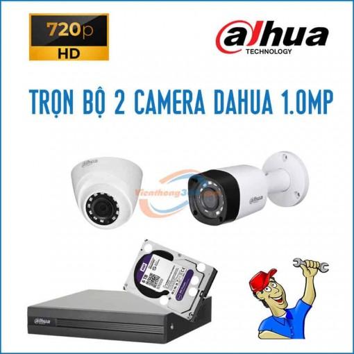 Trọn bộ 2 camera Dahua 1.0MP
