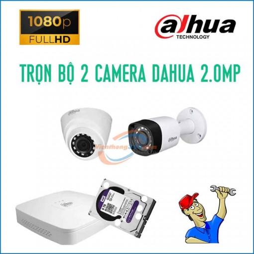 Trọn bộ 2 camera Dahua 2.0MP