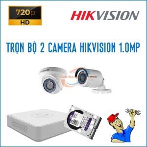 Trọn bộ 2 camera HikVision 1.0MP