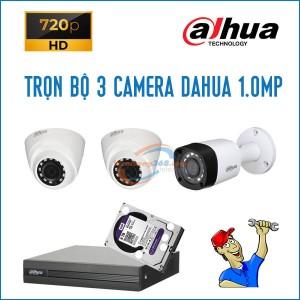 Trọn bộ 3 camera Dahua 1.0MP