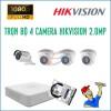 Trọn bộ 4 camera HikVision 2.0MP