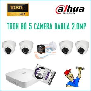 Trọn bộ 5 camera Dahua 2.0MP