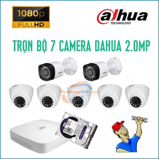 Trọn bộ 7 camera Dahua 2.0MP