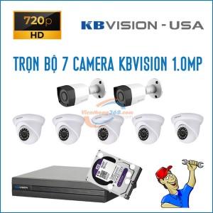 Trọn bộ 7 camera KBVision 1.0MP