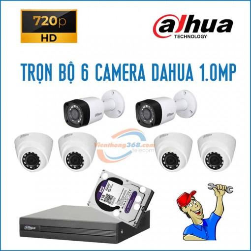 Trọn bộ 6 camera Dahua 1.0MP
