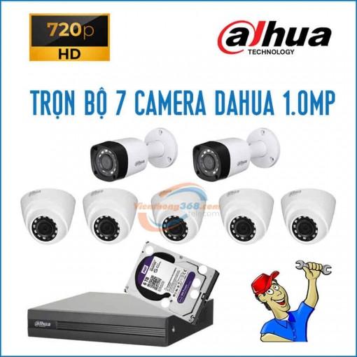 Trọn bộ 7 camera Dahua 1.0MP