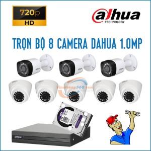 Trọn bộ 8 camera Dahua 1.0MP
